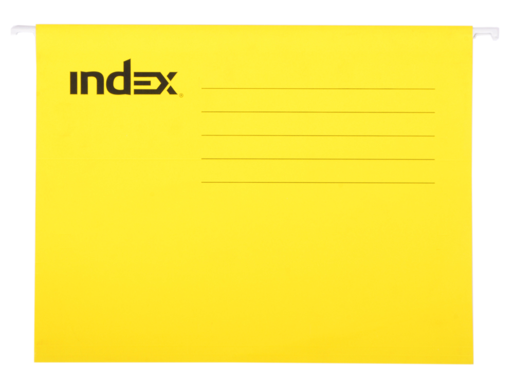 Подвесная папка INDEX, ф. А4, жёлтая, с табулятором ISF01/A4/YE