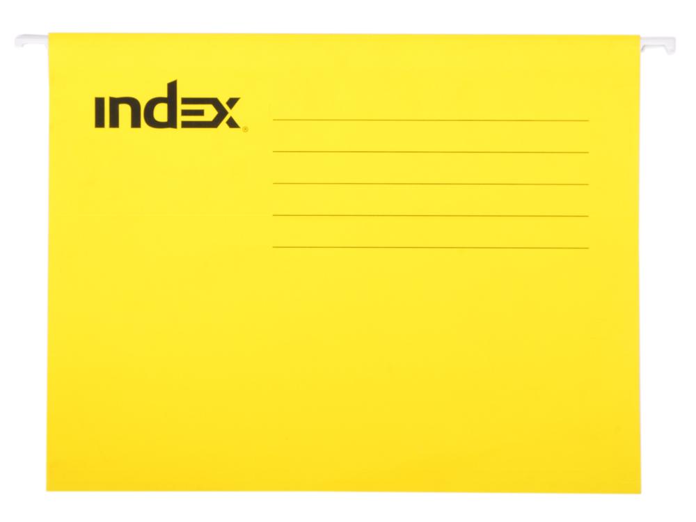 Подвесная папка INDEX, ф. А4, жёлтая, с табулятором ISF01/A4/YE цена