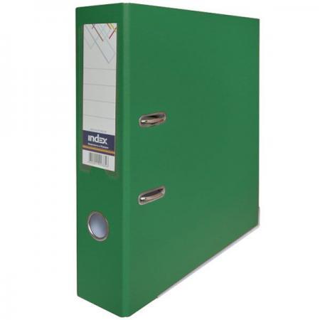 Папка-регистратор с покрытием PVC, 80 мм, А4, зеленая IND 8/50 PP GN папка на 60 карм а4 proff 0 75 мм зеленая db60ab 03