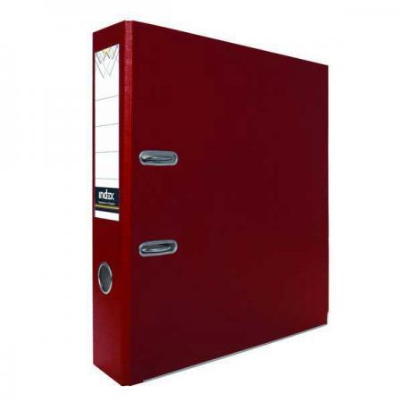 Папка-регистратор с покрытием PVC, 80 мм, А4, бордовая IND 8/24 PVC БОРД папка регистратор с покрытием pvc 80 мм а4 черная ind 8 24 pvc чер