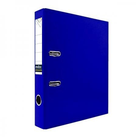 Папка-регистратор с покрытием PVC, 80 мм, А4, темно-синяя папка proff а4 60 карманов синяя