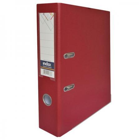 Папка-регистратор с покрытием PVC, 80 мм, А4, бордовая IND 8/50 PP MN