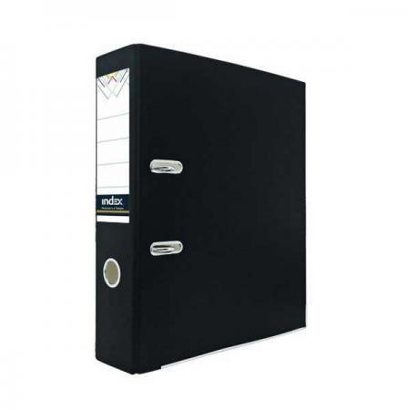 Папка-регистратор из цветного картона, 80 мм, А4, черная IND 8 ECO ЧЕР/24 папка регистратор из ламинированного картона 50 мм а4 черная ind 5la bl ds