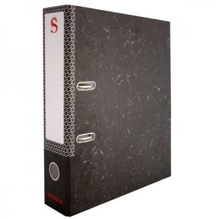 Папка-регистратор 50 мм, черный мрамор, с метал.уголком SPR 5/30 L папка регистратор aro мрамор 50 мм