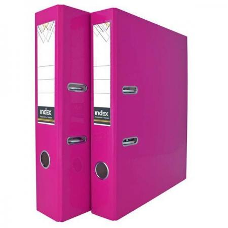 Папка-регистратор COLOURPLAY, 80 мм, ламинированная, неоновая сиреневая папка регистратор 80 мм ламинированная серая 2