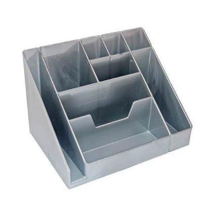 Фото - Подставка для канц. принадлежностей КАСКАД, серый металлик ОР16 подставка для канц принадлежностей профи круглая серая