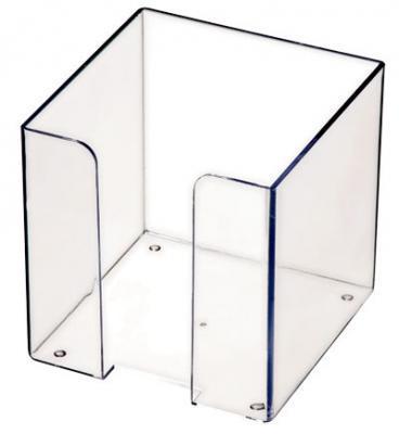 Подставка для бумажного блока, разм. 9х9х9 см, прозрачная ПЛ41 подставка для бумажного полотенца regent