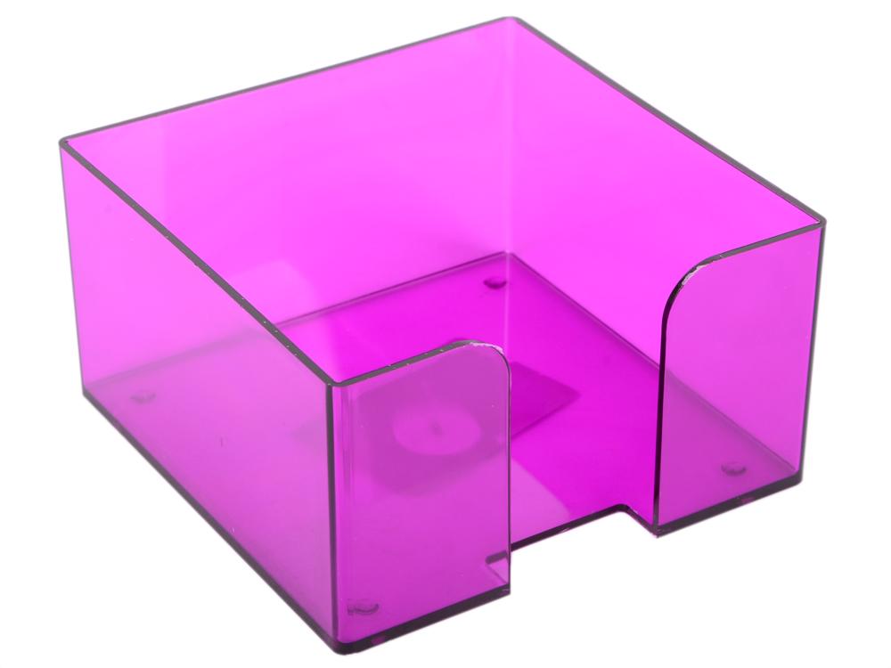 цена Подставка для бумажного блока, разм. 9х9х5 см, тонированная /Слива/ ПЛ52