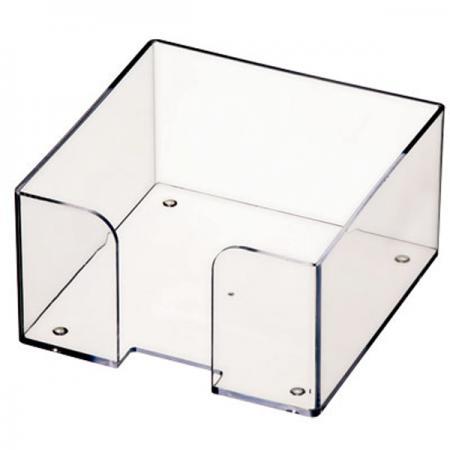 Подставка для бумажного блока, разм. 9х9х5 см, прозрачная ПЛ61