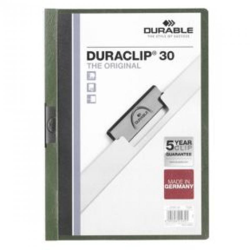 Фото - Папка DURACLIP ORIGINAL 30 с клипом, верхний лист прозрачный, зеленая, на 30 листов папка duraclip original 30 с клипом верхний лист прозрачный серая на 30 листов