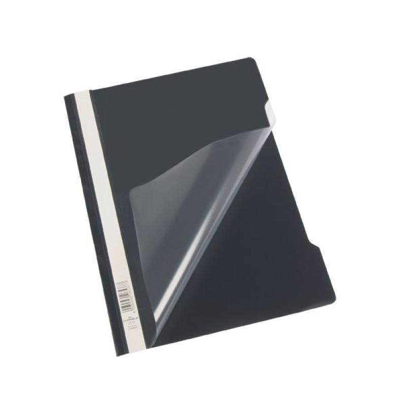 Папка-скоросшиватель, черная, ф. А4, штрих-код