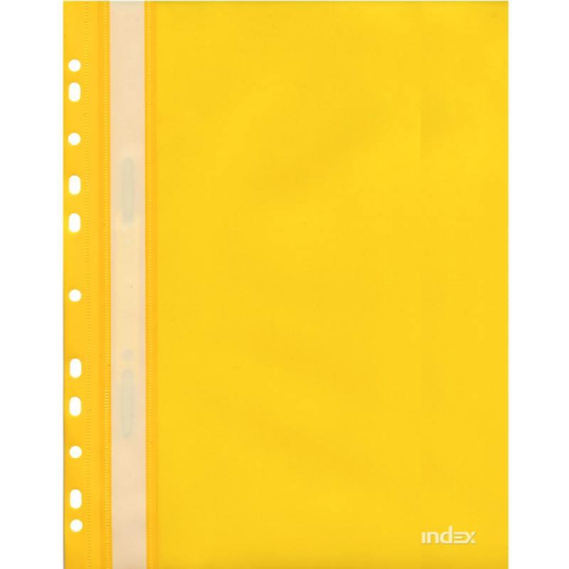 Папка-скоросшиватель с европланкой, А4, желтая 319/03/R euroclean flsm as20 фильтр складчатый многоразовый моющийся для пылесосов felisatti as20 1200
