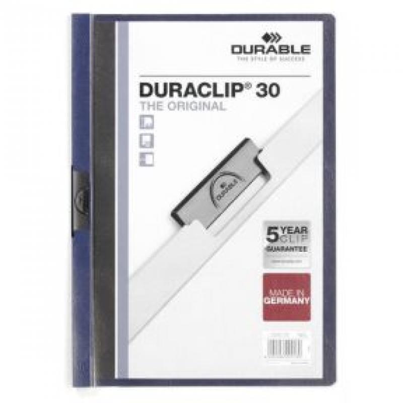 Папка DURACLIP ORIGINAL 30 с клипом, верхний лист прозрачный, темно-синяя, на 30 листов папка с клипом durable duraclip original 2246 07 a4 1 30лист темно синий