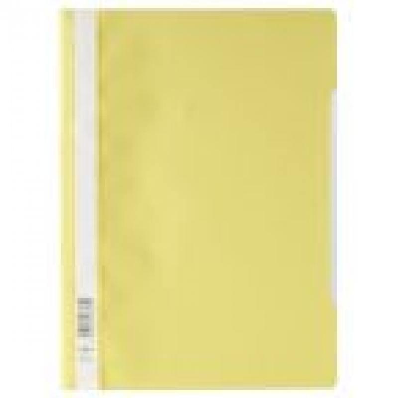 Папка-скоросшиватель, желтая, ф. А4, штрих-код папка duraclip color а4 желтая