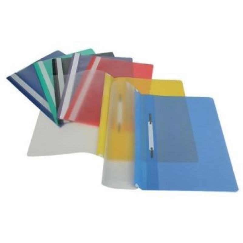Папка-скоросшиватель, синяя, ф. А4, штрих-код папка proff а4 60 карманов синяя