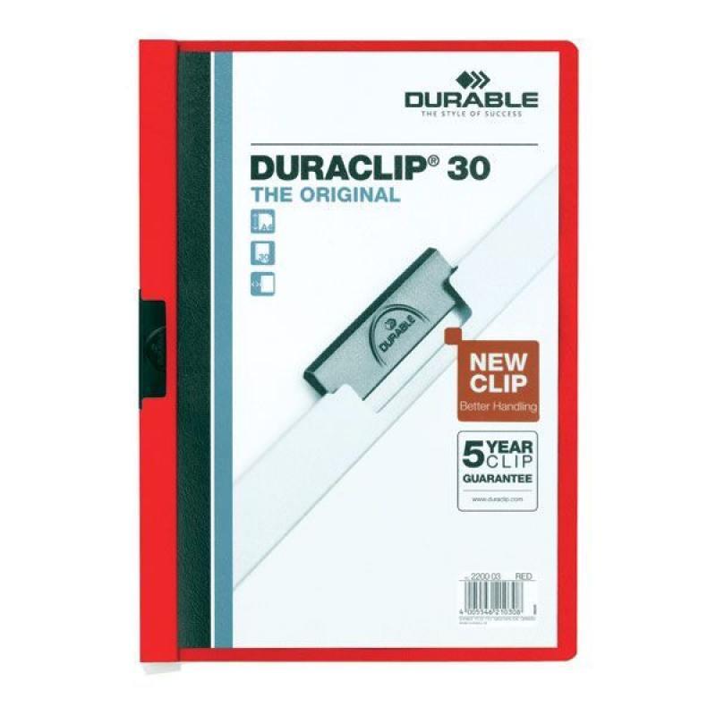 Папка DURACLIP ORIGINAL 30 с клипом, верхний лист прозрачный, красная, на 30 листов demeter honeysuckle 30