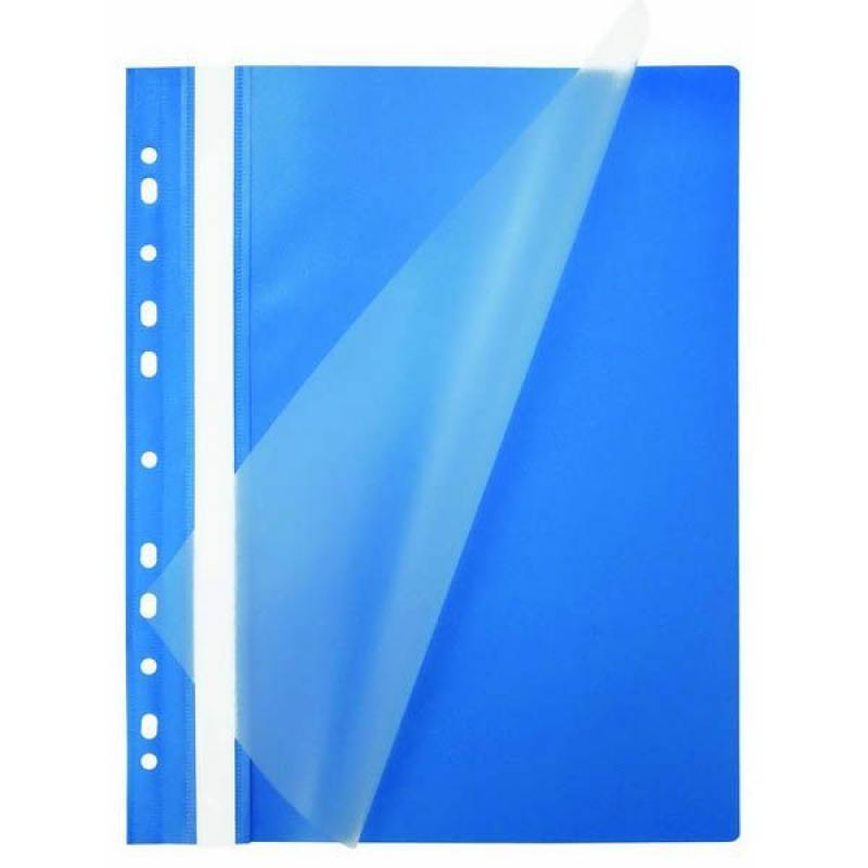 Папка-скоросшиватель, синяя, ф.А4, с европланкой, 130/180 мкр 319/04 папка скоросшиватель с европланкой ф а4 синяя