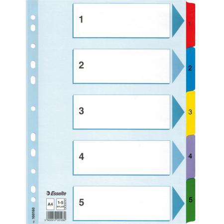 Разделитель Mylar картонный, цветной, А4, цифровой 1 - 5 разделов 100160* скоросшиватель картонный а4 цветной мелованный 300г 113951