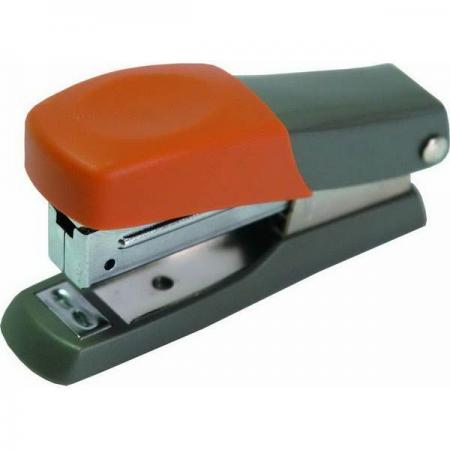 Мини-степлер FUSION, скоба № 10, на 10 листов, серый/оранжевый attache степлер канцелярский leader 10 до 15 листов цвет черный серый
