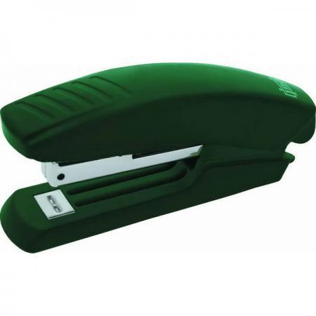 Степлер, скоба №10, на 10 листов, пластиковый корпус, зеленый степлер скоба 10 на 10 листов пластиковый корпус черный