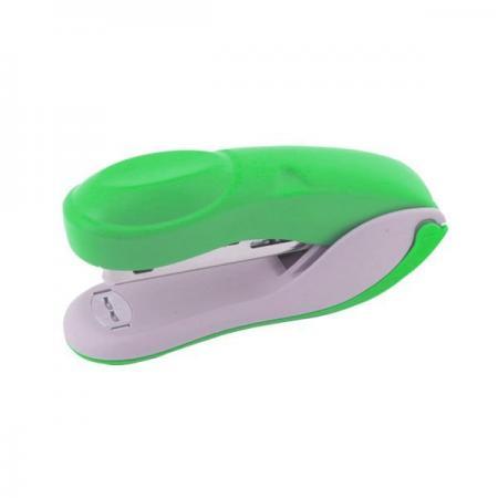 Степлер COLOURPLAY, скоба №24/6, на 20 листов, пластиковый корпус, неоновый зеленый степлер index ims310 gy 20 листов