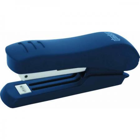 Степлер, скоба №10, на 15 листов, пластиковый корпус, синий степлер index ims310 gy 20 листов