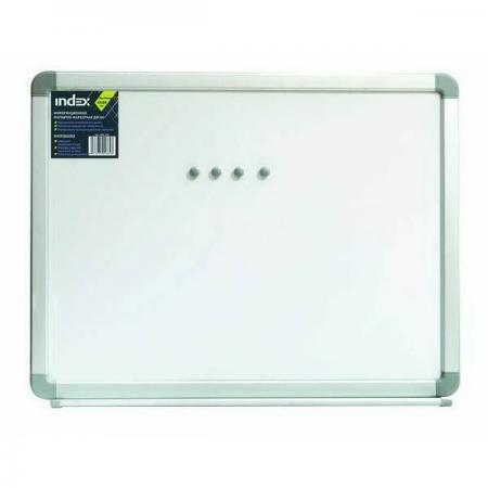 Доска магнитно-маркерная, 90х120 см, улучшенная металлическая рама IWB-304 доска магнитно маркерная index 45 см х 60 см iwb 212