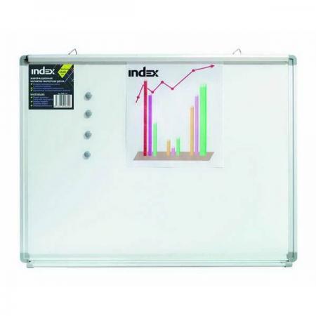 Доска магнитно-маркерная, зажим EasyGrip, 45х60 см, металлическая рама IWB-212 доска магнитно маркерная index 45 см х 60 см iwb 212
