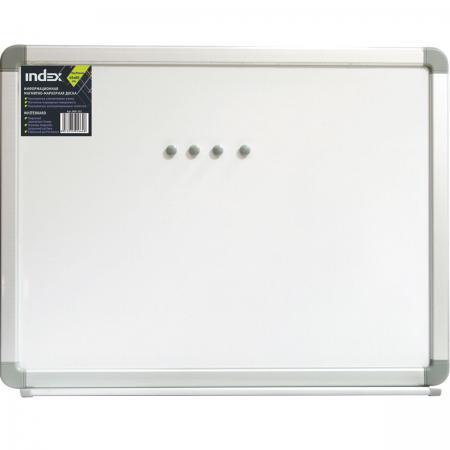 Доска магнитно-маркерная, 45х60 см, улучшенная металлическая рама IWB-302 доска магнитно маркерная index 45 см х 60 см iwb 212