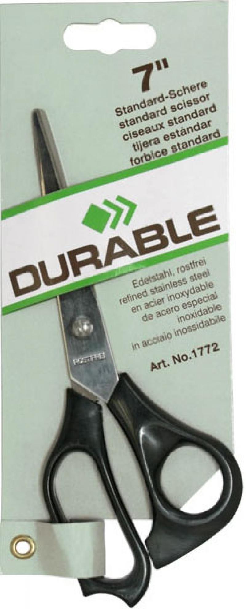 Ножницы Durable 1772-01 18 см comix durable 50 page 12 stapler w staples blue 3 pcs