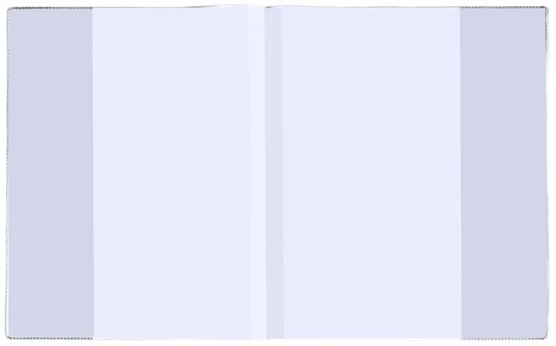 Картинка для Набор обложек для тетрадей и дневников с прозр. клапанами, 100 мкм, разм.210х346, упак. 5 штук 05-51