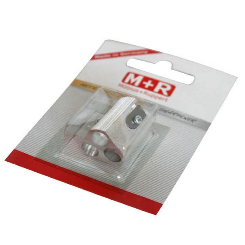 Точилка металлическая, с двумя дополнительными функциями, блистерная упаковка 0207-0002 точилка пластмассовая с ластиком эргономичный дизайн блистерная упаковка 0955 0002
