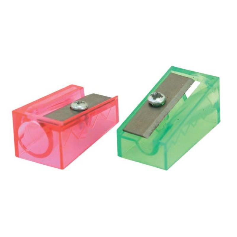 Точилка пластмассовая FANCY, клиновидная форма, прозрачная FSH100 точилка пластмассовая клиновидная форма 104 01 999