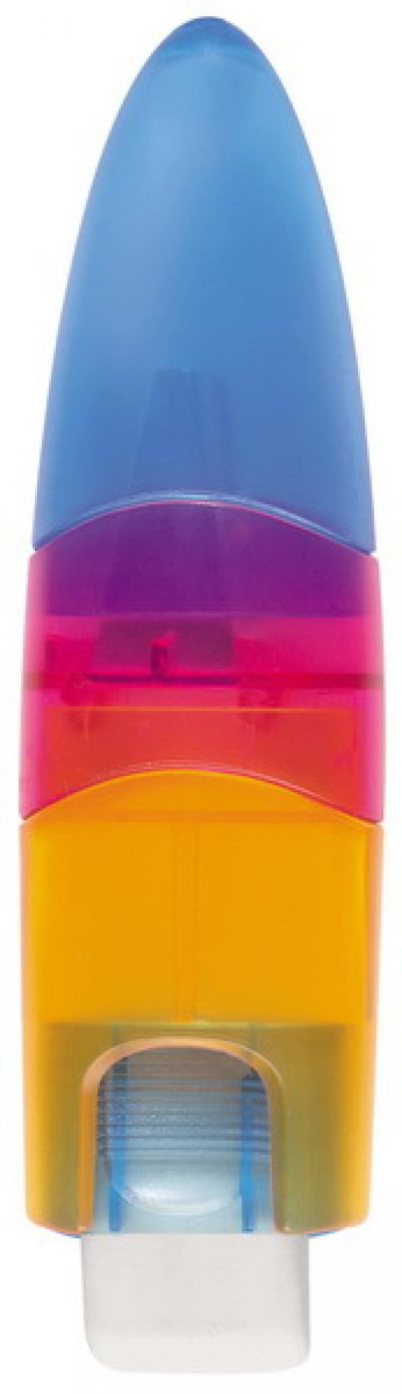 Точилка пластмассовая ELLIPSTICK SWING, с ластиком, эргономичный дизайн 0945-0000 точилка пластмассовая клиновидная форма 104 01 999