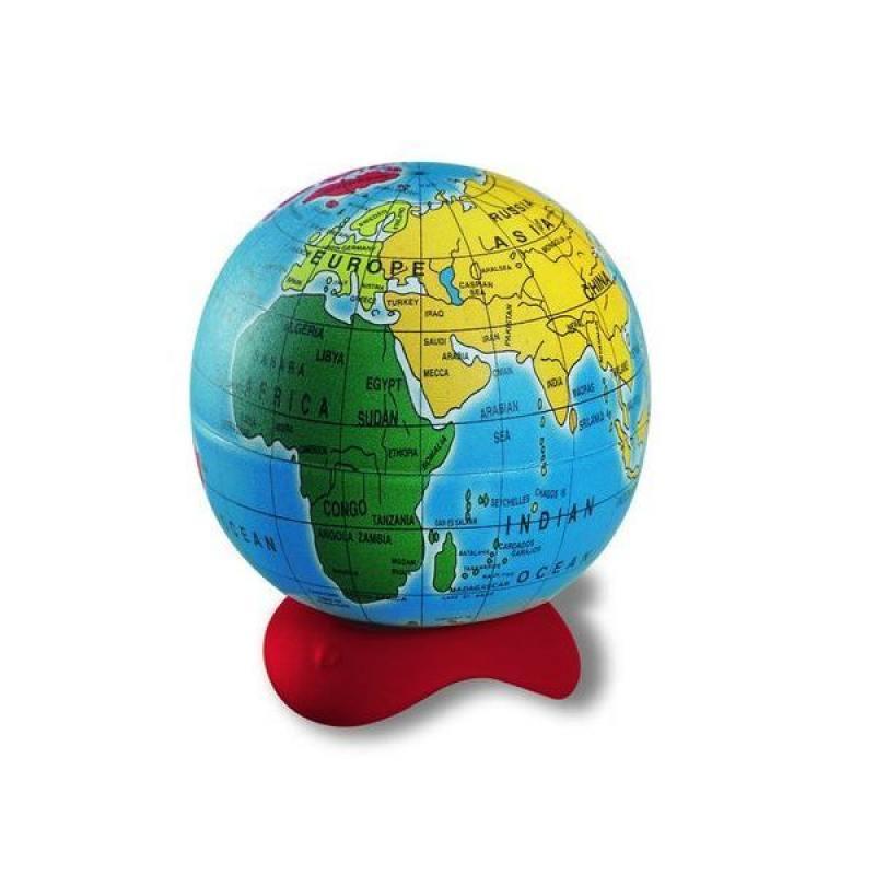 Точилка GLOBE, 1 отверстие, с контейнером в виде глобуса точилка пластиковая maped stop signal одно отверстие с контейнером