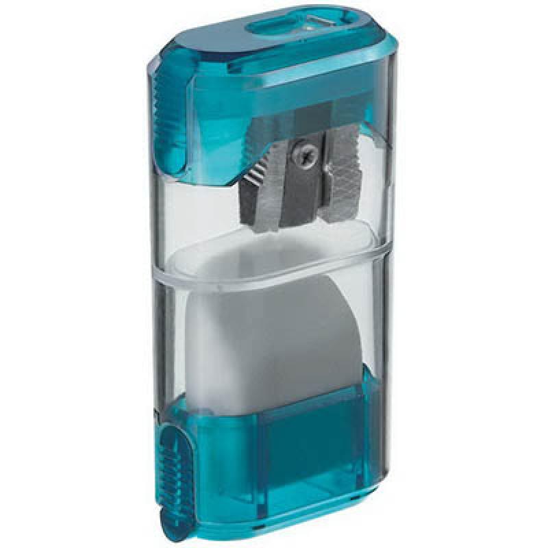 Точилка пластмассовая, с ластиком, эргономичный дизайн, блистерная упаковка 0955-0002 точилка пластмассовая клиновидная форма 104 01 999