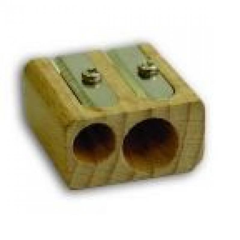 Точилка деревянная, двойная IWS200