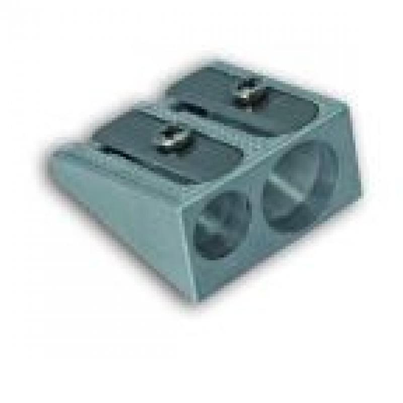 Точилка металлическая двойная, облегченный сплав SSH1006-1