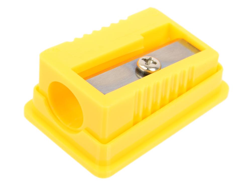 Точилка пластмассовая ТЕХНО, с прозр. мини-контейнером, картон. цвет. коробка FSH130 точилка пластмассовая техно с прозр мини контейнером картон цвет коробка fsh130