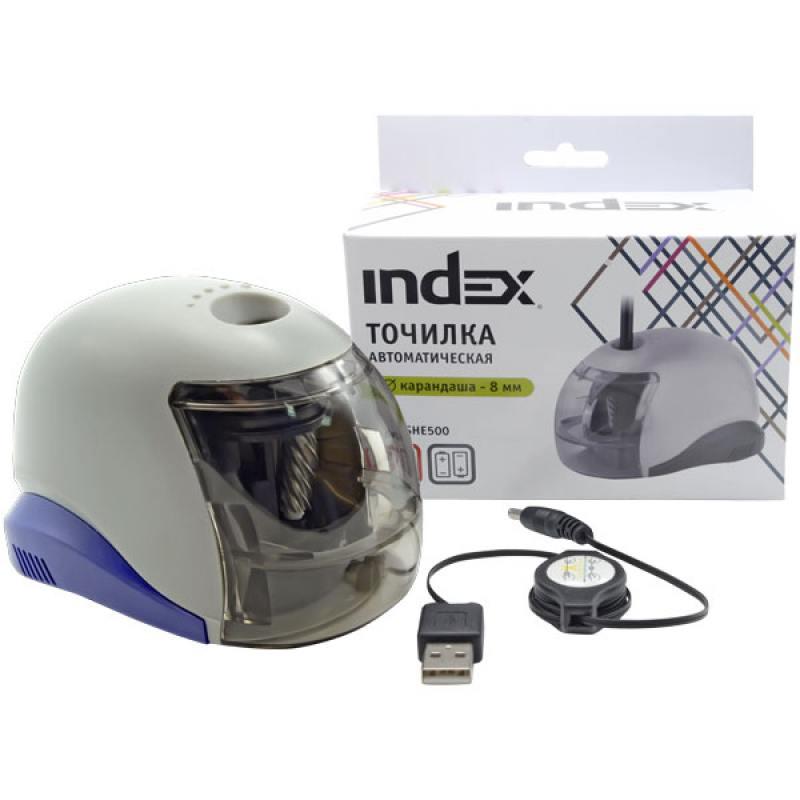 Точилка автоматическая ISHE500 канцелярия index точилка автоматическая