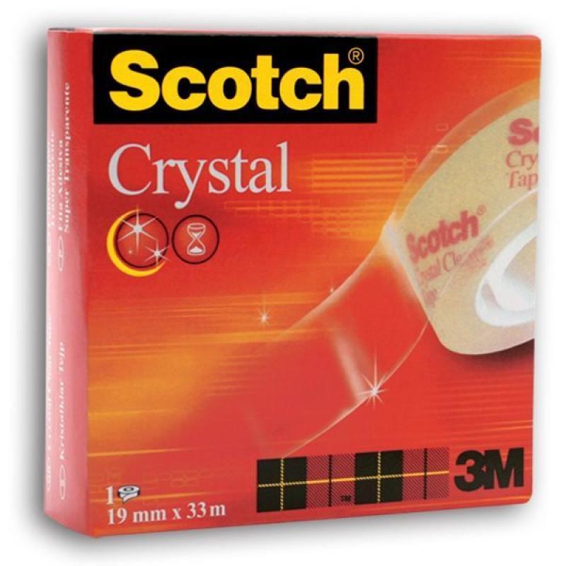 Лента канцелярская SCOTCH CRISTAL 600, прозрачная, 19 ммх33 м 600 3M лента канцелярская scotch прозрачная 19 ммх10 м 8 шт в уп 500 1910