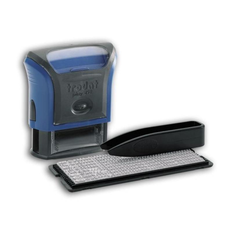 Штамп, пластмассовый, самонаборный, трехстрочный, русифицированный, 38 мм х 14 мм 4911/DB colop штамп самонаборный трехстрочный с персонализацией printer