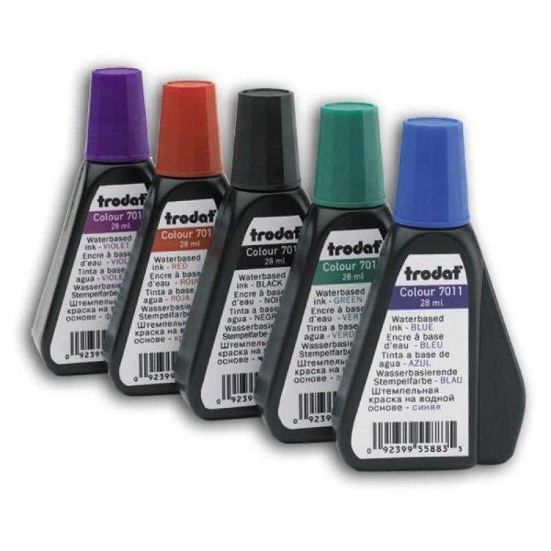Штемпельная краска, фиолетовая, 28 мл 7011ф trodat штемпельная краска цвет красный 28 мл