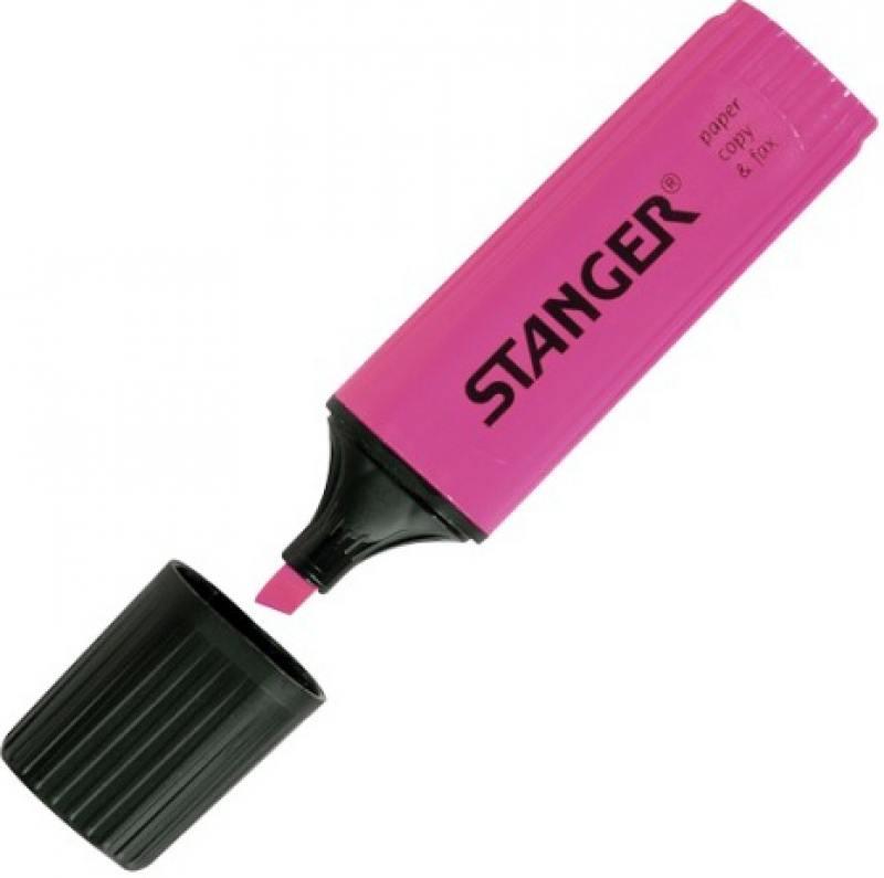Текстмаркер Stanger 2000-04-18 1 мм розовый ножницы stanger 34103 12 5 см