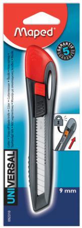Нож канцелярский UNIVERSAL эргономичный , пластиковый, с ручным фиксатором лезвия 9 мм maped gom stick universal