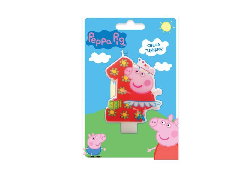 Свеча Peppa Pig Цифра 1 1 шт 8 см 29733 peppa pig little creatures level 1