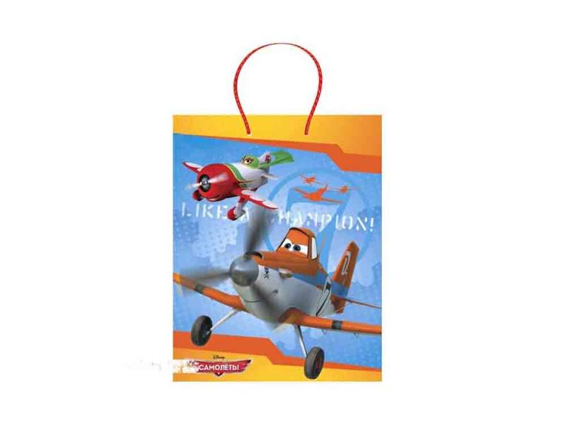 Пакет подарочный Весёлый Праздник Disney Самолеты 1 шт 26 х 32 х 14 см CLRBG-PL-02