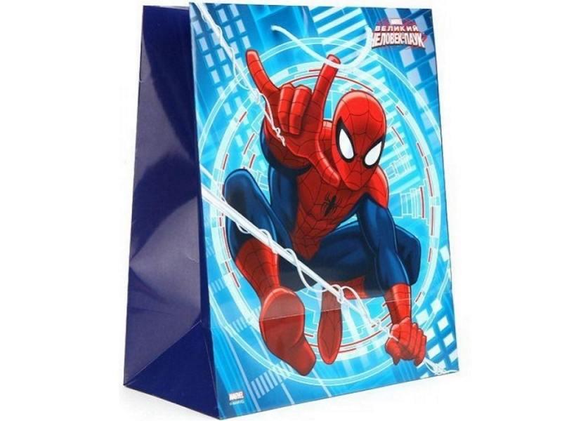 Пакет подарочный Весёлый Праздник Человек-паук 1 шт 33x46х20 см CLRBG-SPM-03 весёлый двоечник