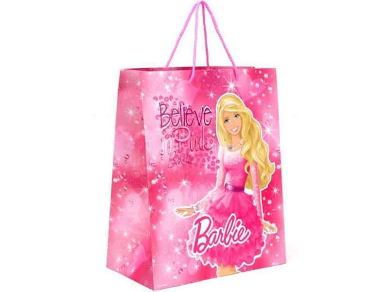 Пакет подарочный Весёлый Праздник Barbie 1 шт 33x46х20 см CLRBG-BRB-03 росмэн пакет подарочный мои питомцы 230х180х100 barbie