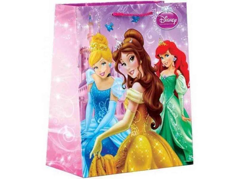 Пакет подарочный Весёлый Праздник Disney Принцессы 1 шт 33x46х20 см CLRBG-DP-03 тефаль бутылочка tefal disney стекло 110 мл 1 шт td6000k0